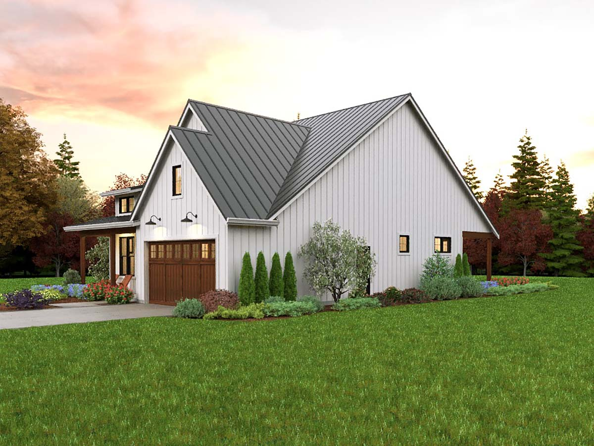 Contemporary, Cottage, Country, Farmhouse, Ranch House Plan 81308 with 3 Beds, 2 Baths, 2 Car Garage Picture 1