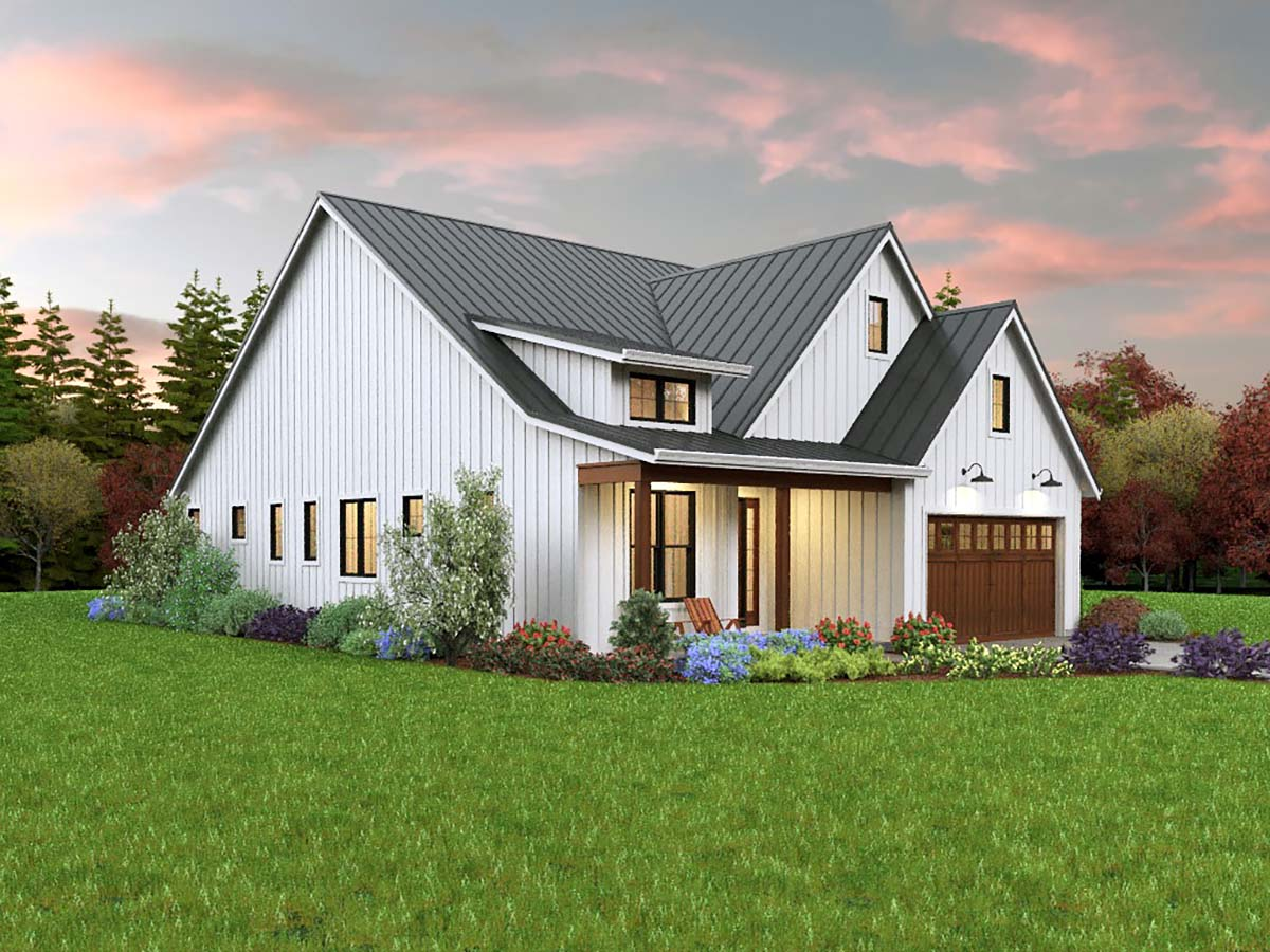 Contemporary, Cottage, Country, Farmhouse, Ranch House Plan 81308 with 3 Beds, 2 Baths, 2 Car Garage Picture 2
