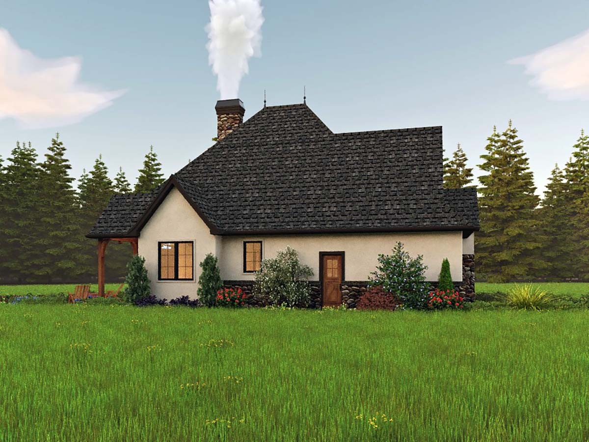 Cottage, European, Traditional House Plan 81309 with 2 Beds, 2 Baths, 2 Car Garage Picture 2