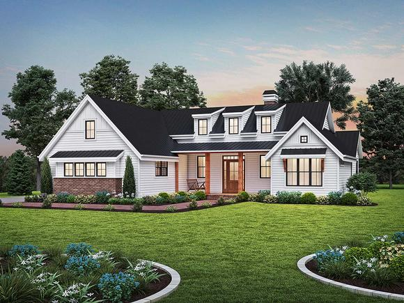 Contemporary, Farmhouse, Ranch House Plan 81313 with 3 Beds, 3 Baths, 2 Car Garage Elevation