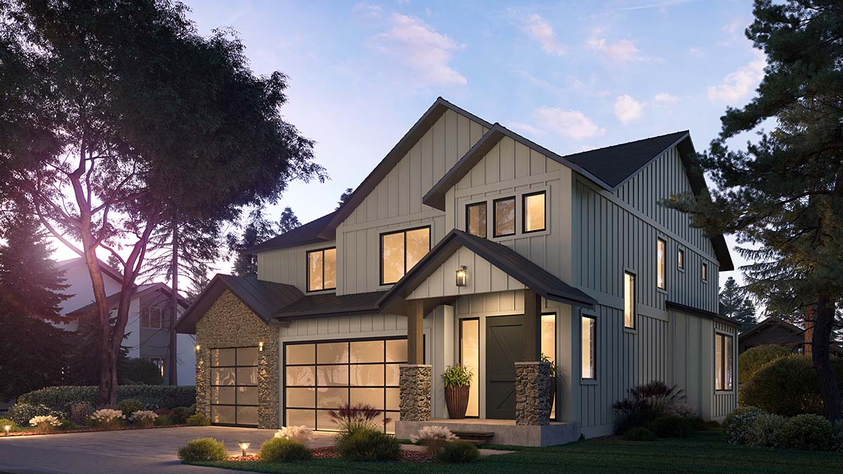 Craftsman, Farmhouse House Plan 81907 with 4 Beds, 3 Baths, 3 Car Garage Picture 1