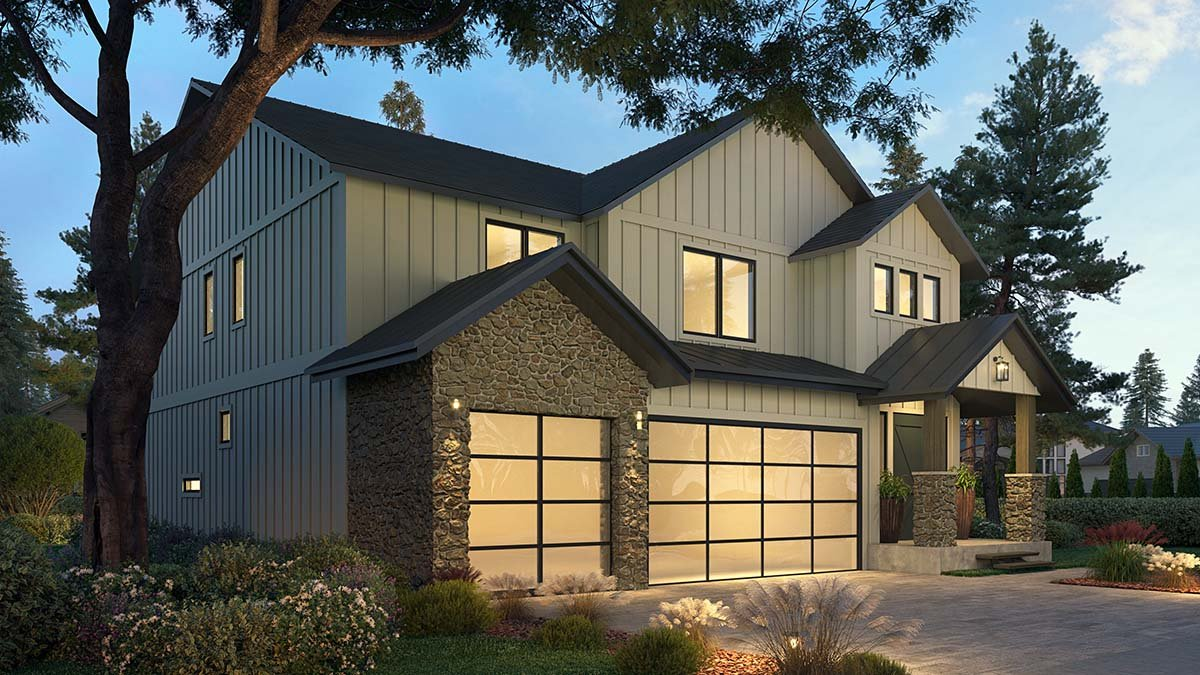Craftsman, Farmhouse House Plan 81907 with 4 Beds, 3 Baths, 3 Car Garage Picture 2