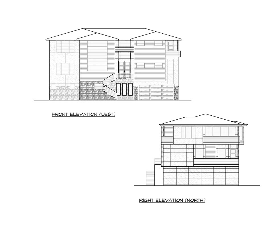 Contemporary, Modern House Plan 81957 with 4 Beds, 6 Baths, 4 Car Garage Picture 3