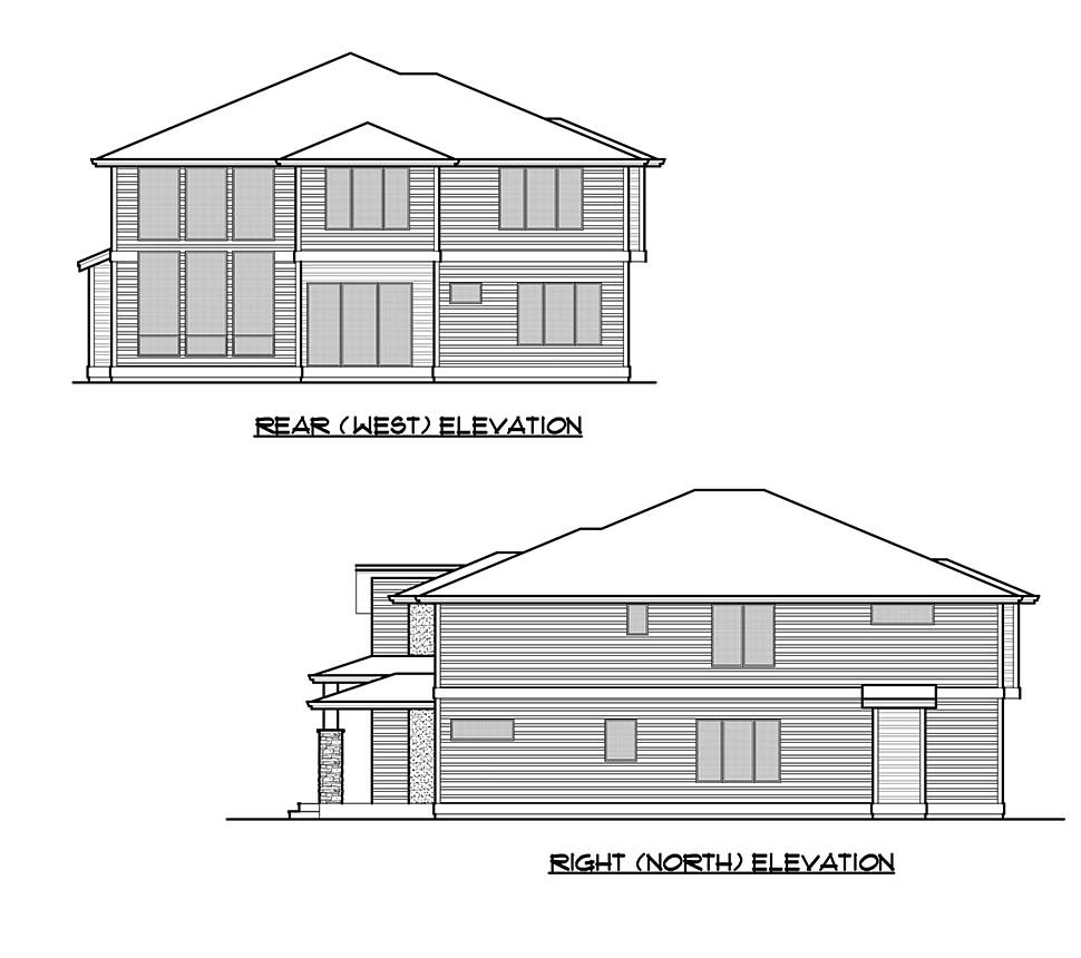 Contemporary, Modern House Plan 81959 with 5 Beds, 5 Baths, 2 Car Garage Picture 4