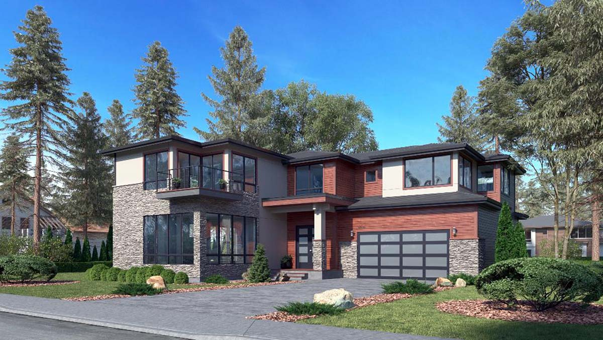 Contemporary, European House Plan 81979 with 5 Beds, 5 Baths, 3 Car Garage Picture 1