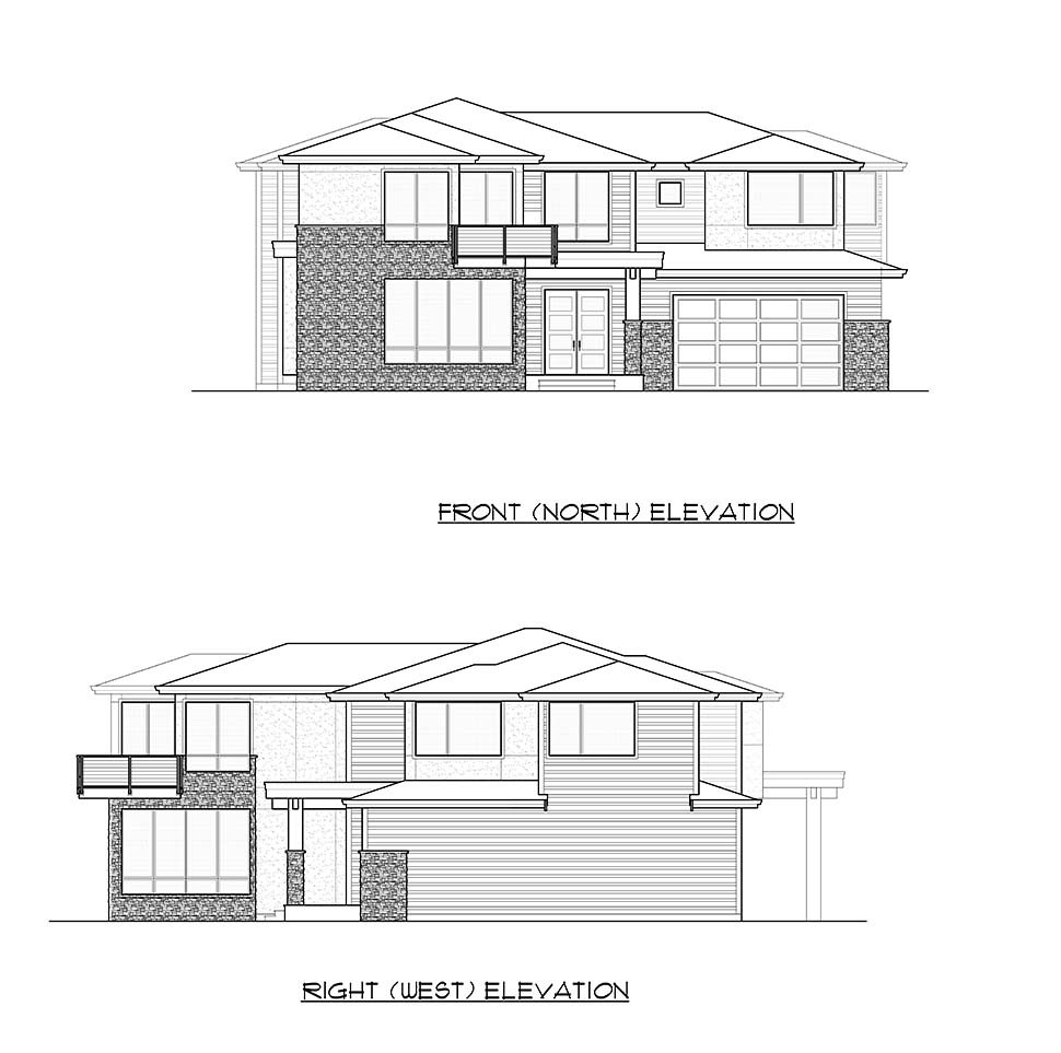 Contemporary, European House Plan 81979 with 5 Beds, 5 Baths, 3 Car Garage Picture 3