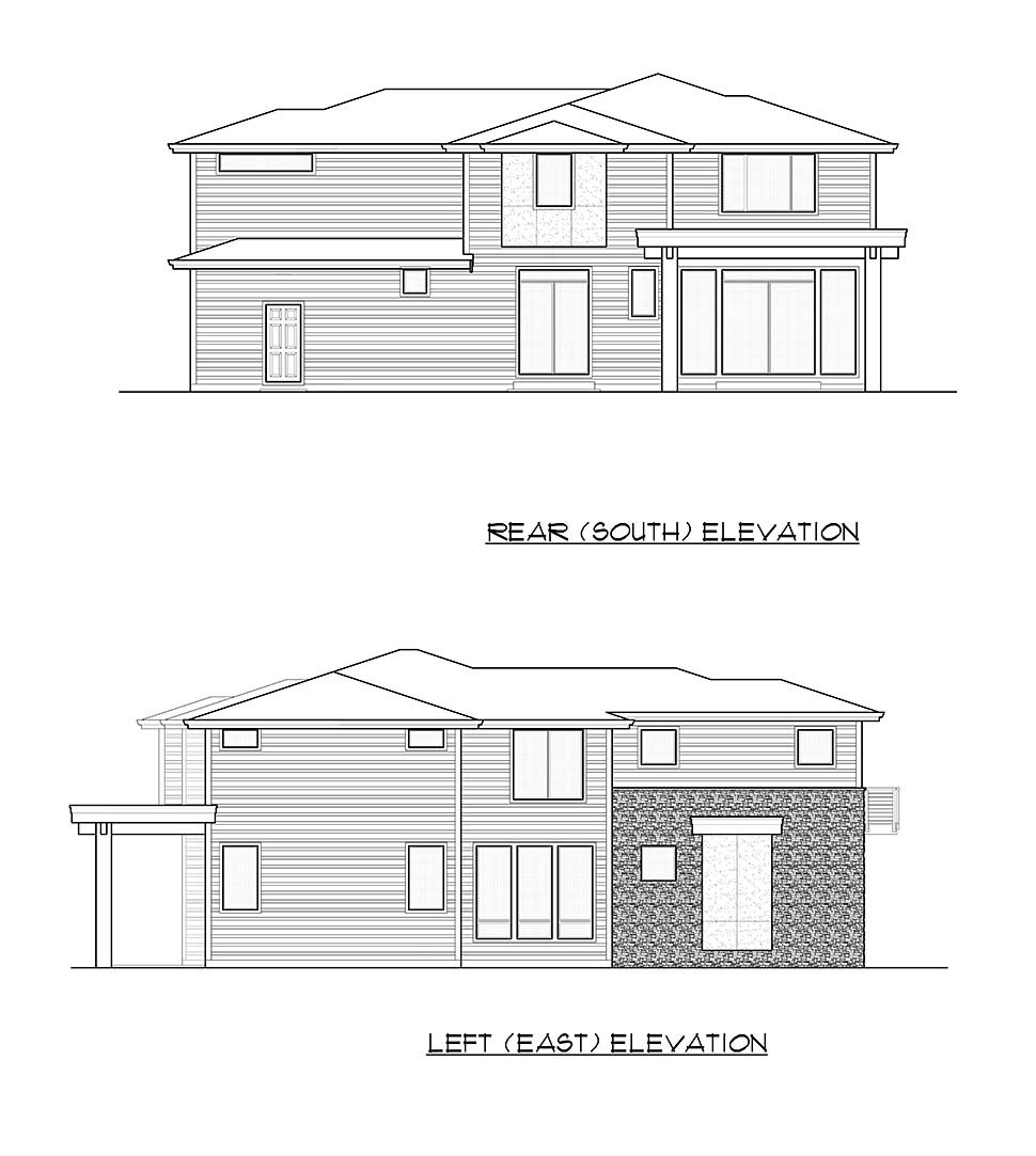 Contemporary, European House Plan 81979 with 5 Beds, 5 Baths, 3 Car Garage Picture 4