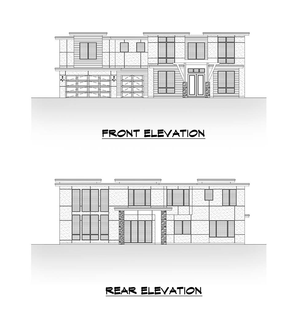 Contemporary House Plan 81987 with 5 Beds, 6 Baths, 3 Car Garage Picture 3