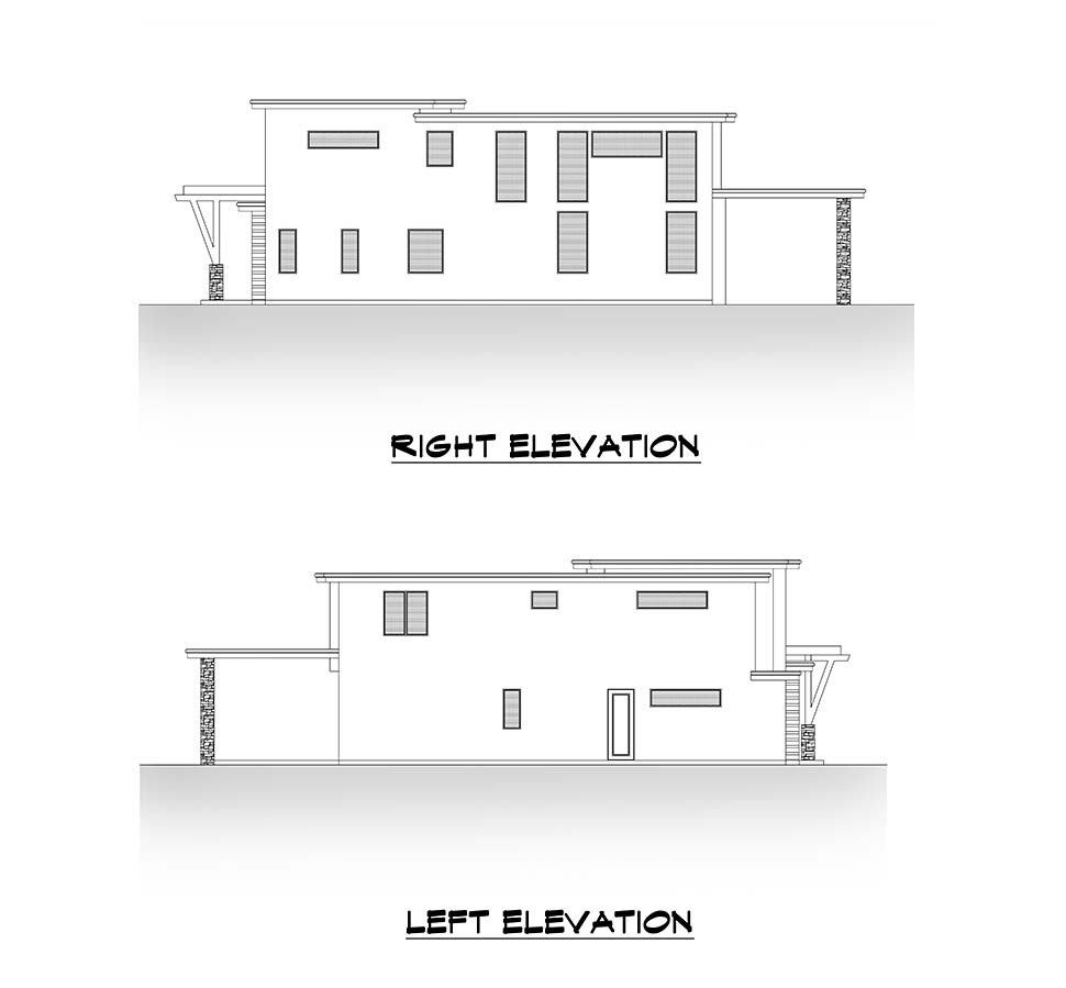 Contemporary House Plan 81987 with 5 Beds, 6 Baths, 3 Car Garage Picture 4