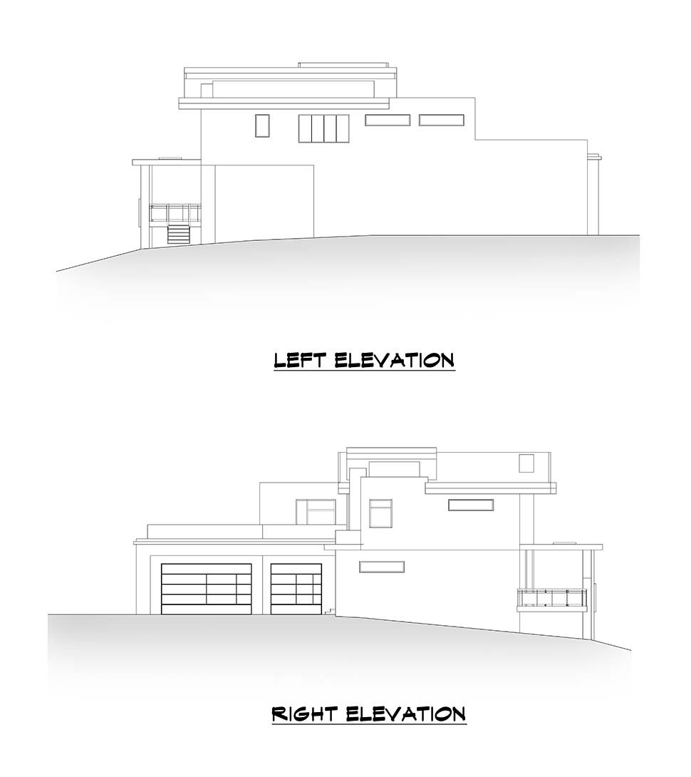 Modern House Plan 81990 with 4 Beds, 6 Baths, 3 Car Garage Picture 4