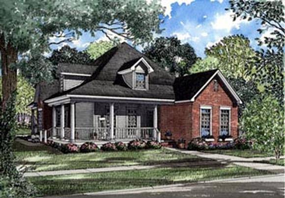 Country, Farmhouse House Plan 82020 with 3 Beds, 2 Baths Elevation