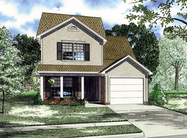 Traditional House Plan 82249 with 4 Beds, 4 Baths, 1 Car Garage Elevation