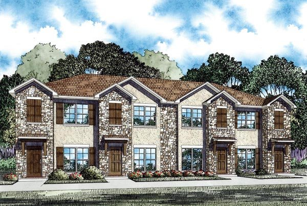 Multi-Family Plan 82286 with 8 Beds, 8 Baths Elevation