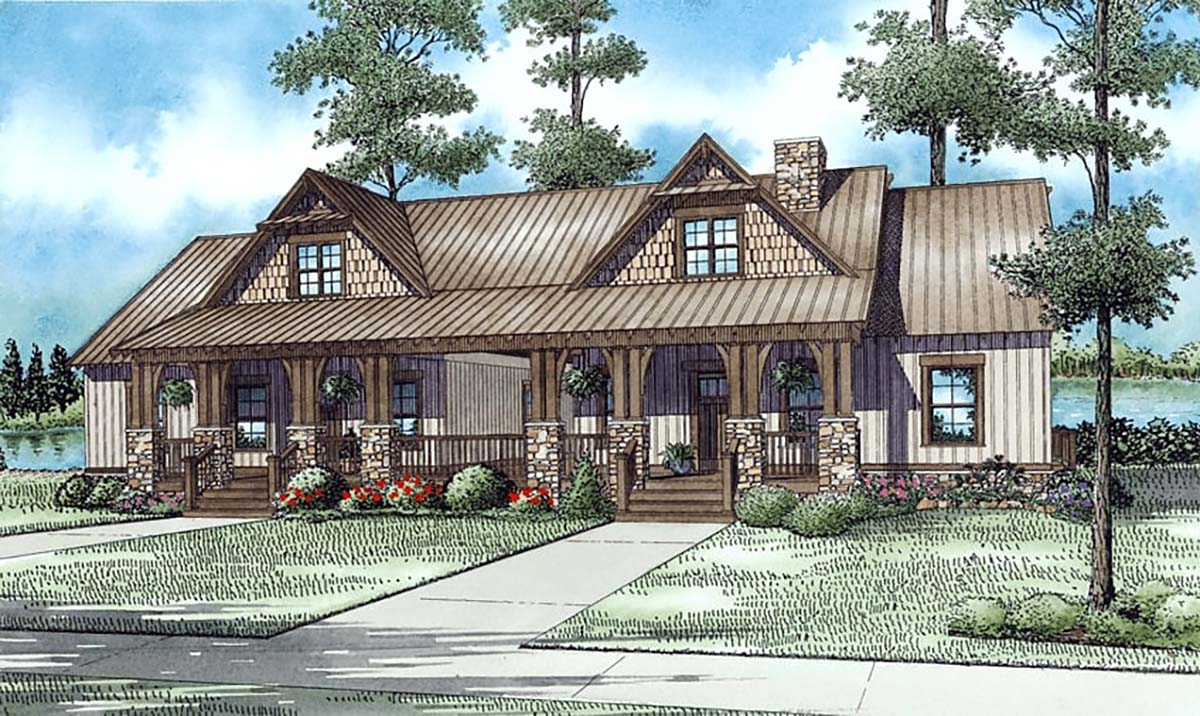 Multi-Family Plan 82305 with 6 Beds, 4 Baths Elevation