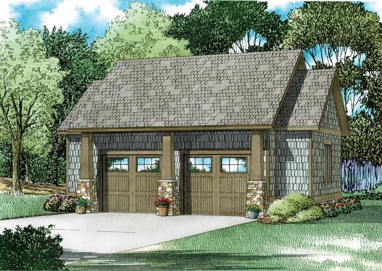 2 Car Garage Plan 82324 Elevation