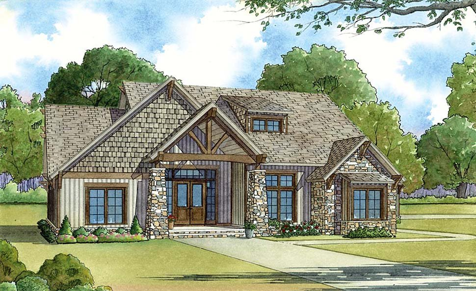 Bungalow, Cottage, Country, Craftsman House Plan 82431 with 5 Beds, 4 Baths, 2 Car Garage Picture 15