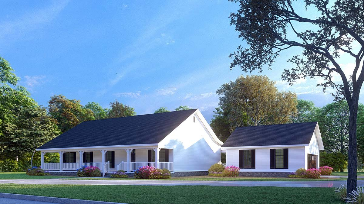 Cabin, Country, Ranch House Plan 82434 with 3 Beds, 2 Baths, 2 Car Garage Picture 1