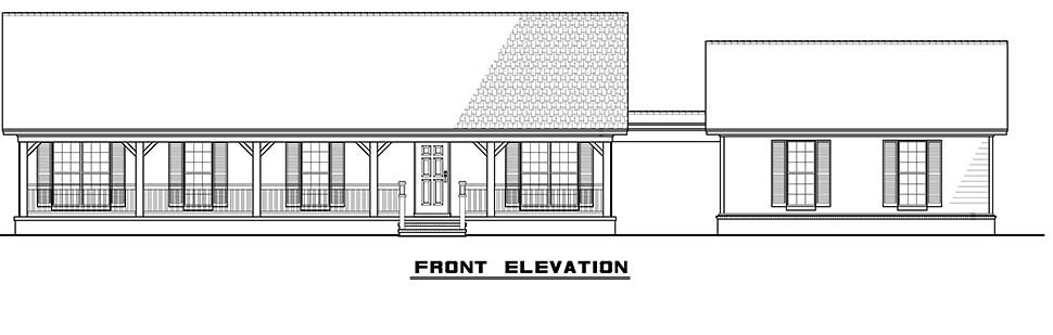 Cabin, Country, Ranch House Plan 82434 with 3 Beds, 2 Baths, 2 Car Garage Picture 3