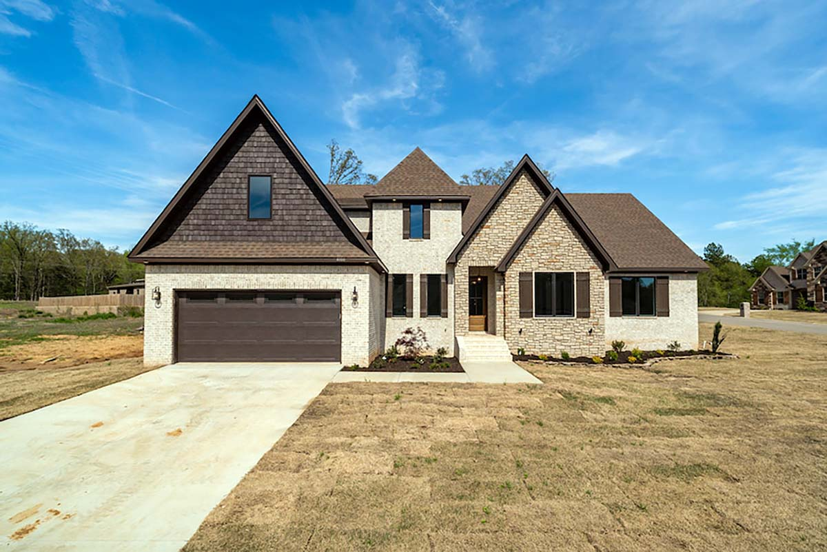 Bungalow, Craftsman, European, French Country House Plan 82475 with 4 Beds, 3 Baths, 2 Car Garage Picture 1