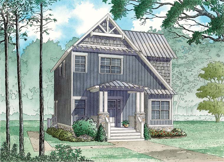Contemporary, Cottage, Country, Craftsman, Saltbox, Southern House Plan 82484 with 3 Beds, 2 Baths Elevation