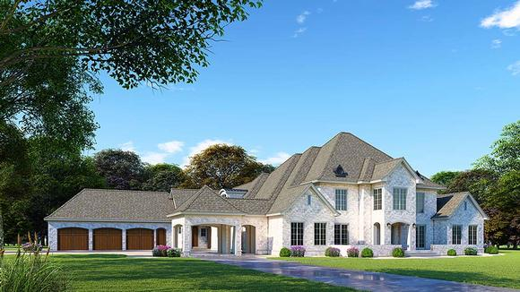 European, French Country House Plan 82498 with 5 Beds, 7 Baths, 3 Car Garage Elevation