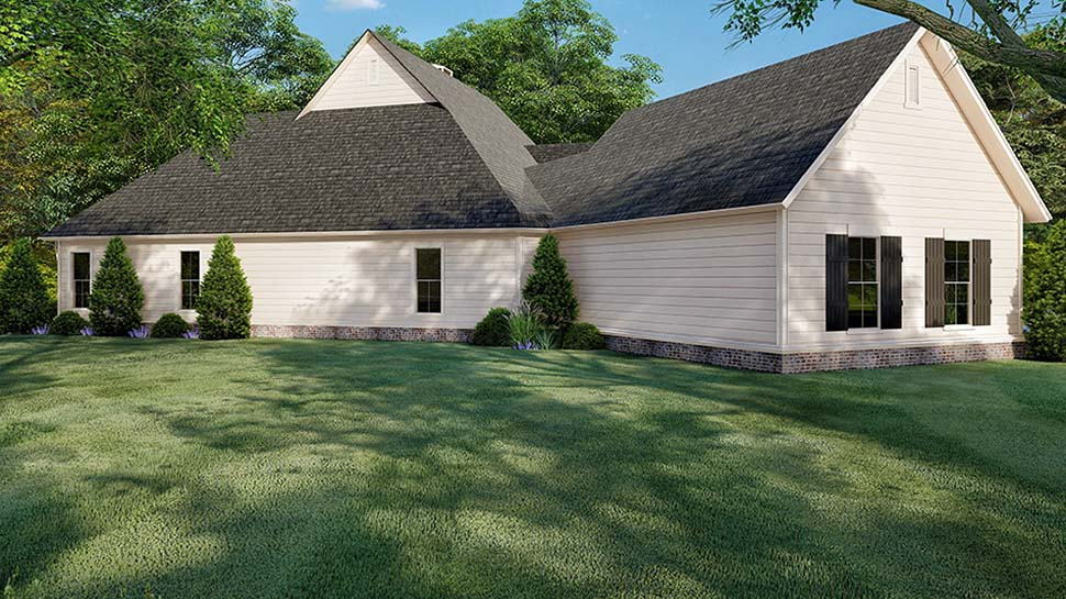 Country, Farmhouse, Southern House Plan 82521 with 3 Beds, 4 Baths, 2 Car Garage Picture 2