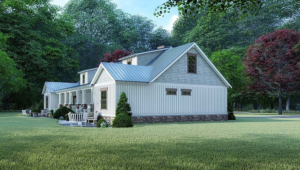 Bungalow, Country, Craftsman, Farmhouse Multi-Family Plan 82524 with 4 Beds, 3 Baths Picture 2