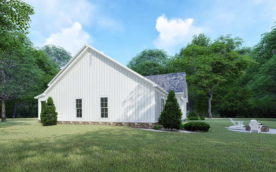Bungalow, Country, Craftsman, Farmhouse, Modern, Traditional House Plan 82525 with 4 Beds, 4 Baths, 2 Car Garage Picture 1