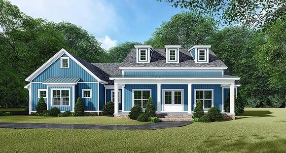 Bungalow, Country, Craftsman, Farmhouse House Plan 82533 with 3 Beds, 3 Baths, 2 Car Garage Elevation