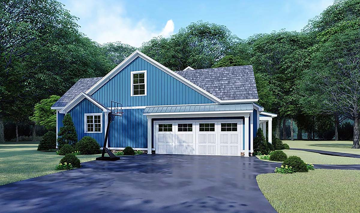 Bungalow, Country, Craftsman, Farmhouse House Plan 82533 with 3 Beds, 3 Baths, 2 Car Garage Picture 2
