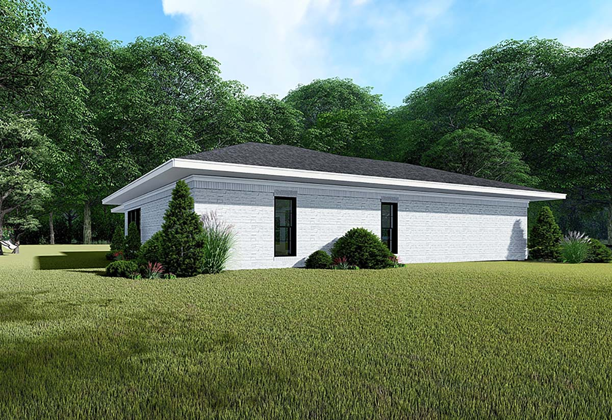 Contemporary, Prairie House Plan 82535 with 3 Beds, 2 Baths, 2 Car Garage Picture 2