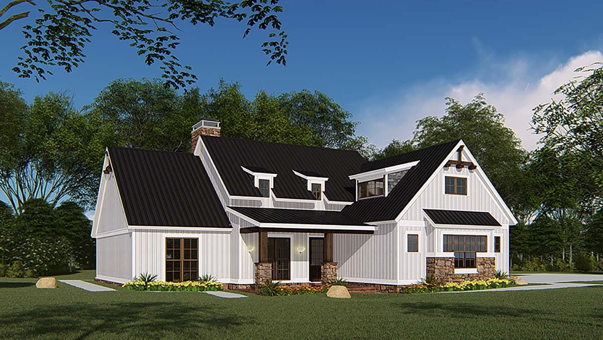 Bungalow, Craftsman, Farmhouse House Plan 82546 with 4 Beds, 3 Baths, 3 Car Garage Picture 2