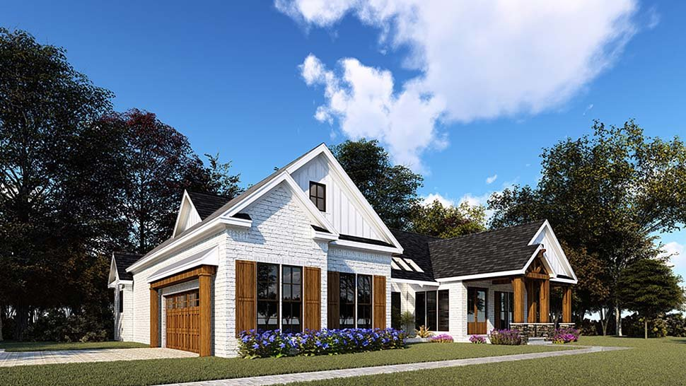 Bungalow, Craftsman, Farmhouse, One-Story House Plan 82557 with 3 Beds, 4 Baths, 2 Car Garage Picture 2