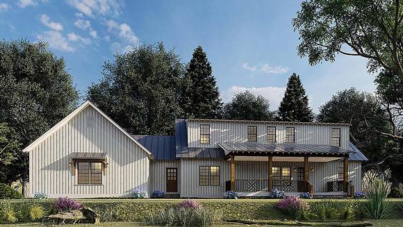 Contemporary, Country, Farmhouse House Plan 82576 with 3 Beds, 3 Baths, 3 Car Garage Elevation