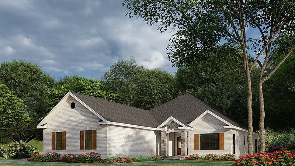 French Country, Traditional House Plan 82585 with 3 Beds, 2 Baths, 3 Car Garage Picture 1