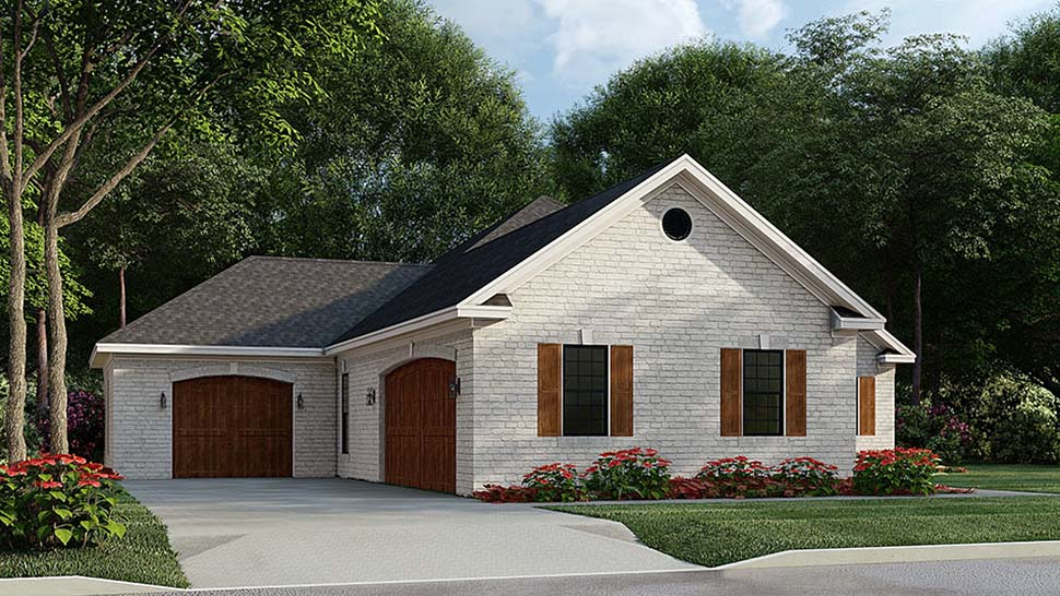 French Country, Traditional House Plan 82585 with 3 Beds, 2 Baths, 3 Car Garage Picture 2