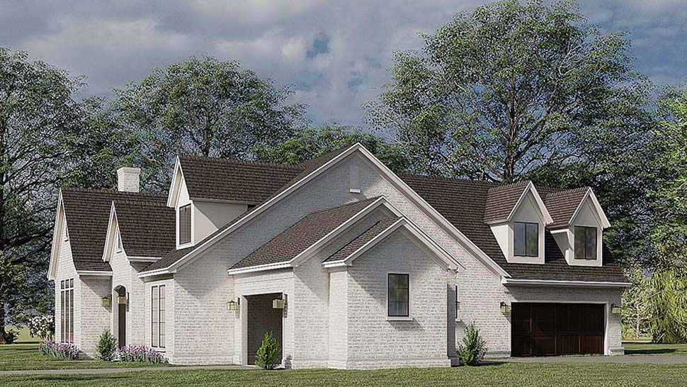 European, French Country House Plan 82587 with 3 Beds, 4 Baths, 2 Car Garage Picture 1