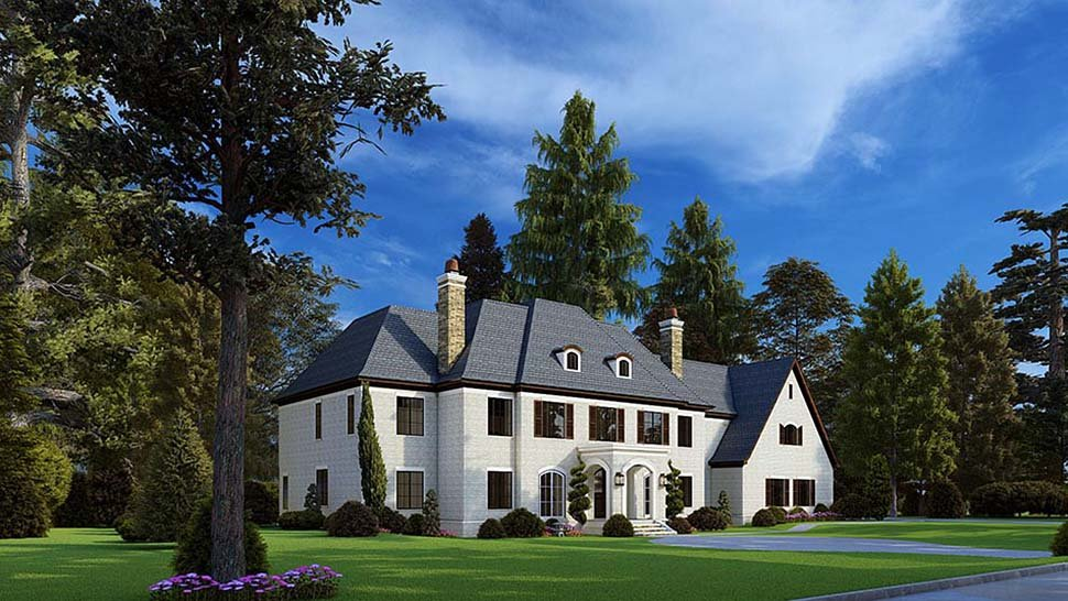 Colonial, Contemporary, European House Plan 82588 with 5 Beds, 7 Baths, 3 Car Garage Picture 2