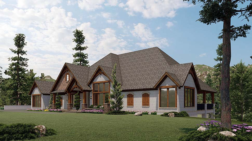 Bungalow, Craftsman House Plan 82591 with 2 Beds, 4 Baths, 3 Car Garage Picture 1