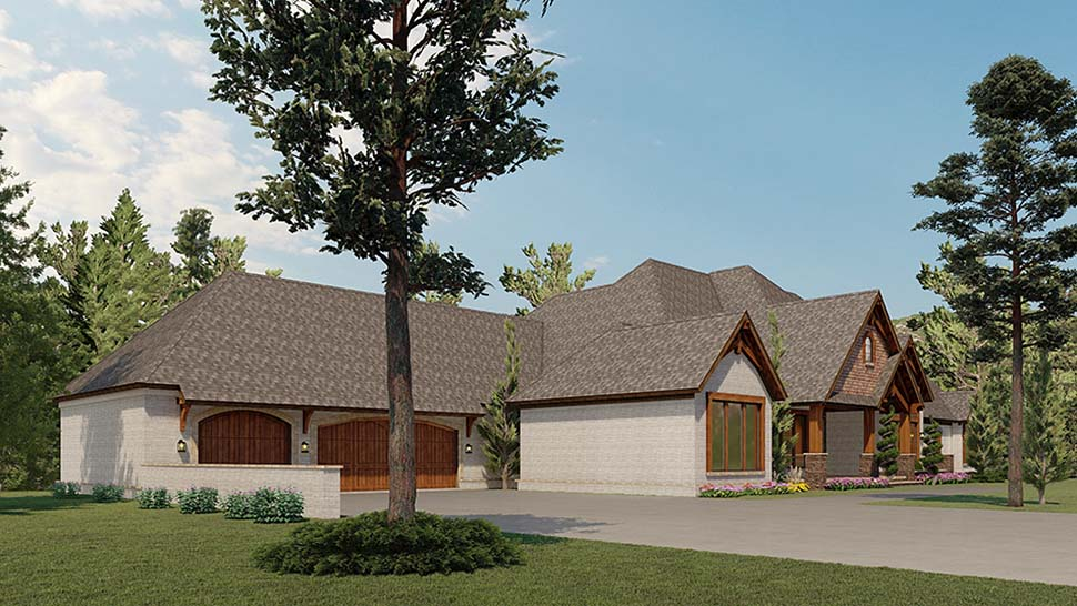 Bungalow, Craftsman House Plan 82591 with 2 Beds, 4 Baths, 3 Car Garage Picture 2