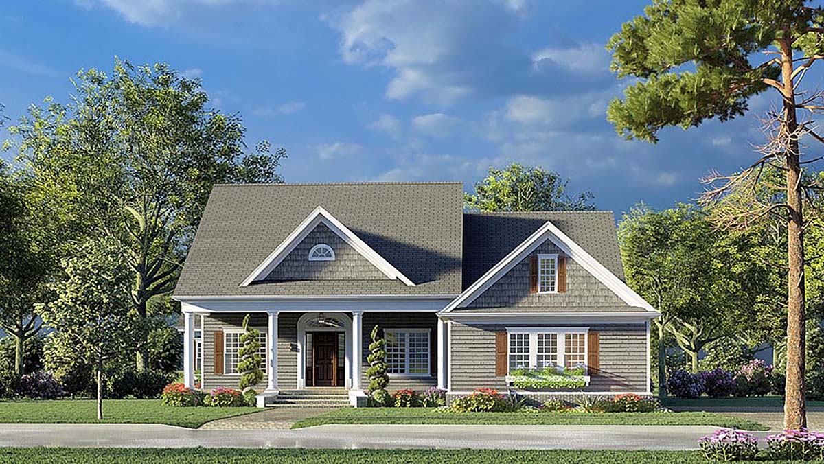 Bungalow, Coastal, Contemporary, Country, Craftsman, Farmhouse, Traditional House Plan 82593 with 4 Beds, 4 Baths, 2 Car Garage Elevation