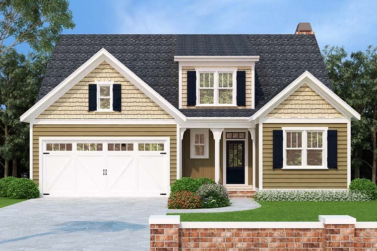 Bungalow, Cottage House Plan 83016 with 5 Beds, 3 Baths, 2 Car Garage Elevation