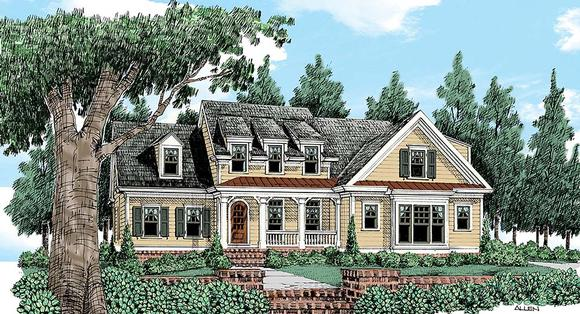 Country, European, Farmhouse, Victorian House Plan 83024 with 4 Beds, 4 Baths, 2 Car Garage Elevation