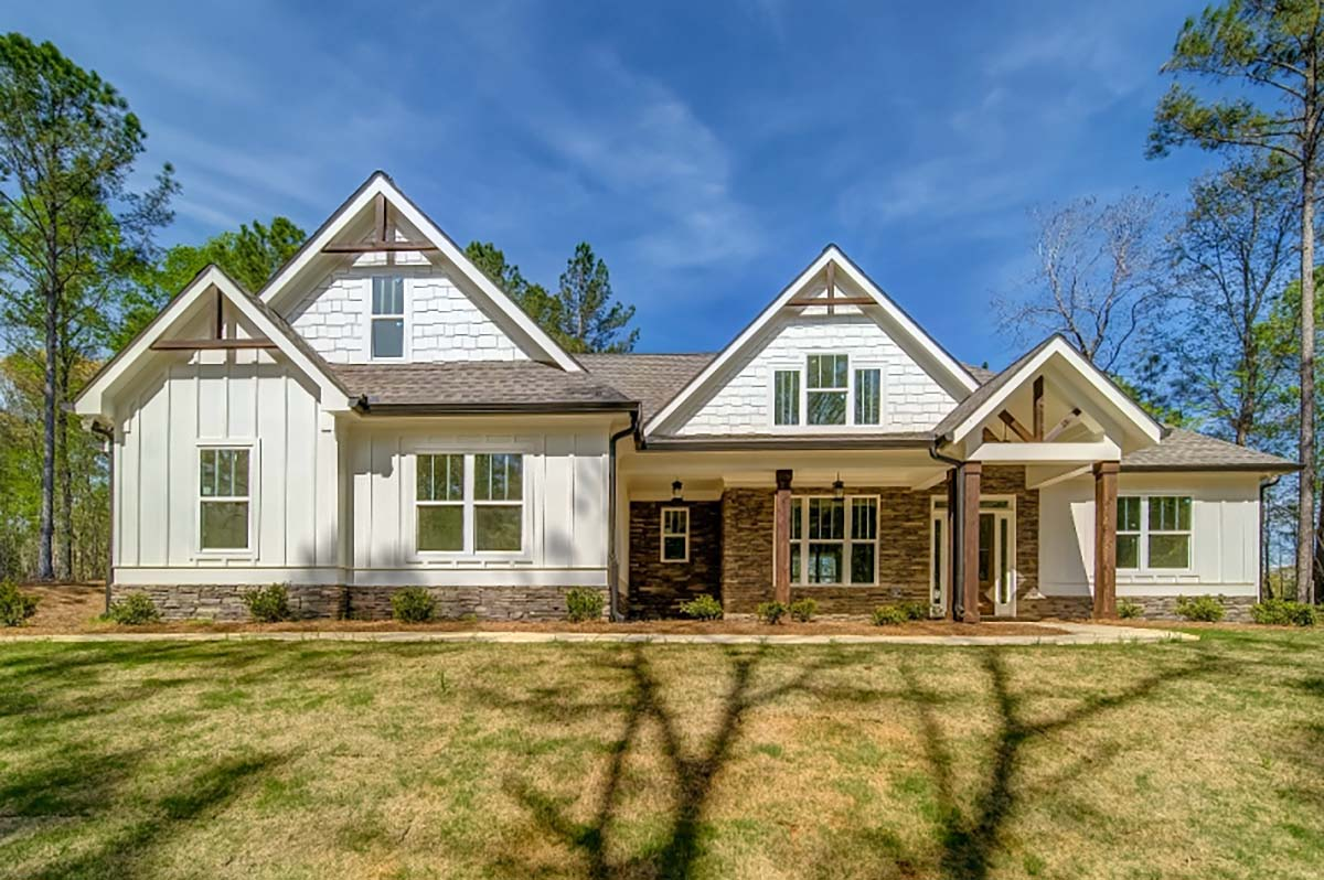 Country, Farmhouse, Traditional House Plan 83108 with 5 Beds, 5 Baths, 3 Car Garage Picture 1