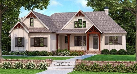 Craftsman, Farmhouse, Traditional House Plan 83109 with 3 Beds, 2 Baths, 2 Car Garage Elevation