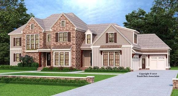 European, Modern, Traditional House Plan 83112 with 5 Beds, 5 Baths, 3 Car Garage Elevation