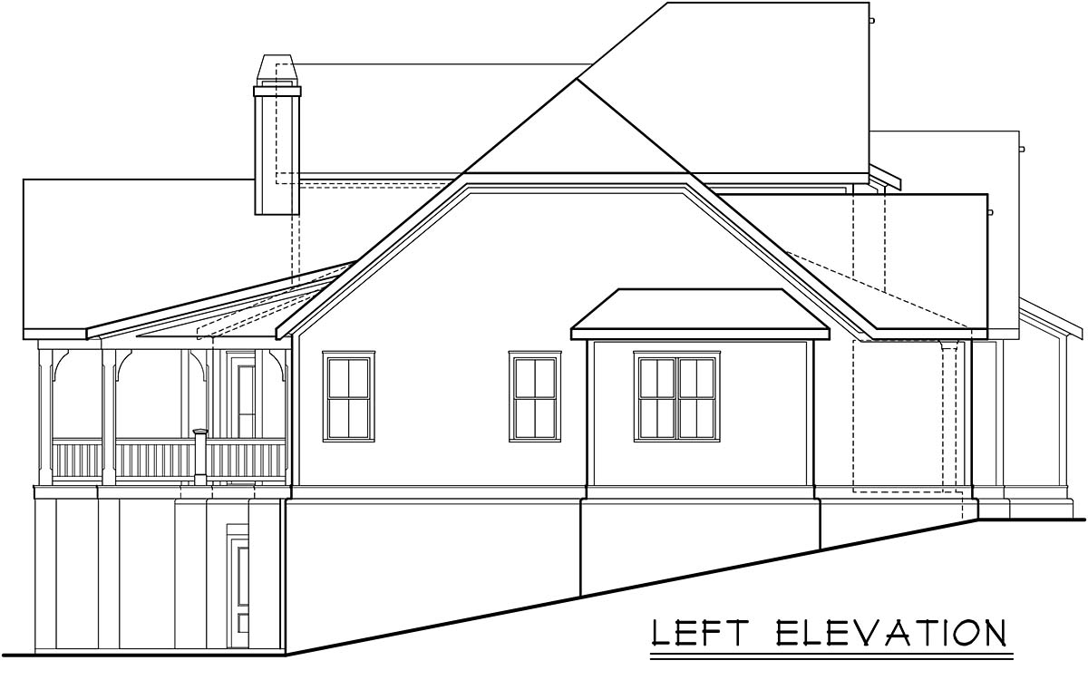Cottage, Country, Farmhouse, Traditional House Plan 83137 with 4 Beds, 4 Baths, 3 Car Garage Picture 2