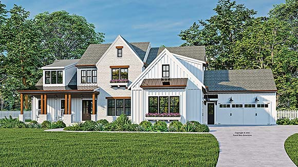 Country, European, Farmhouse, Traditional House Plan 83139 with 5 Beds, 6 Baths, 4 Car Garage Elevation