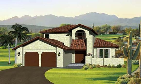 Southwest House Plan 85000 with 3 Beds, 2 Baths, 2 Car Garage Elevation