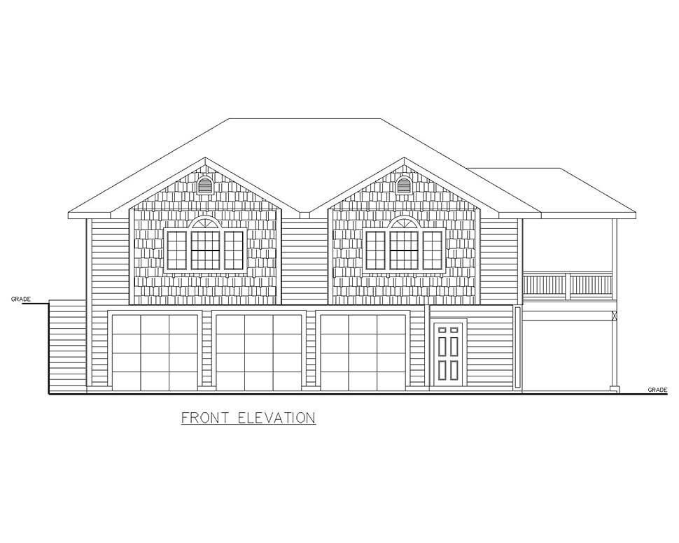 Traditional Garage-Living Plan 85130 with 2 Beds, 2 Baths, 3 Car Garage Picture 3